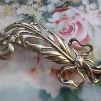 Vintage Sterling Feather Pin