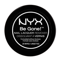 Be Gone! Nail Lacquer Remover Wipes | NYX Cosmetics