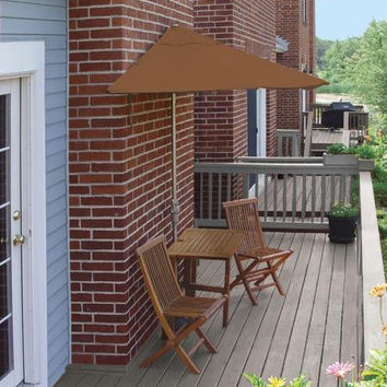 5-piece Furniture Set - Teak Umbrella Canopy