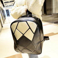 Womens patchwork leather backpack bag gift 01