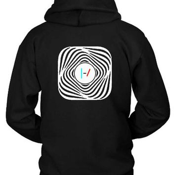 DCCKG72 Twenty One Pilots Blurryface Rounded Hoodie Two Sided