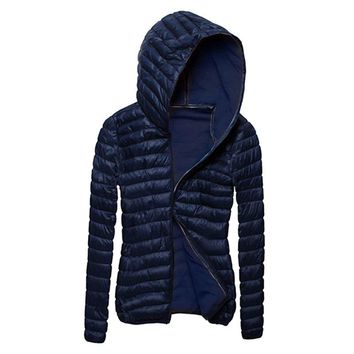 Women Coat Slim Padded Hooded Collar Outwear Coat Zipper Jacket Autumn Winter Clothes