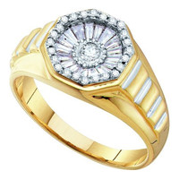 Diamond Fashion Mens Ring in 14k Gold 0.52 ctw