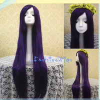 100cm Long Purple Umineko no Naku Koro ni Frederica Bernkastel Cosplay Costume Wigs for Party  UF038