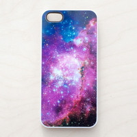 Galaxy Space iPhone Case 5 4 4S Apple Hubble Pink Pink Blue