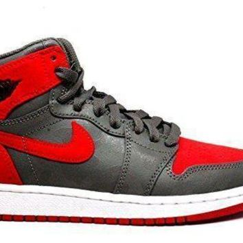 Nike Boy's Air Jordan 1 Retro High Premium Basketball Shoe (GS) nike air retro jordan