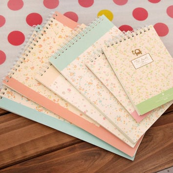 1pcs Floral Notebook School Supplies Stationery caderno filofax Planner Writing Tool Student Children Day Gift papelaria diary
