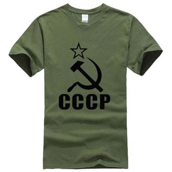 DCCK7G2 nique CCCP Russian T Shirts Men USSR Soviet Union Man t shirt Moscow Russia Mens Tees Cotton O Neck Ringer Tops Free Shipping