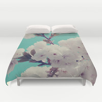 Spring Fever Duvet Cover by Leah Flores