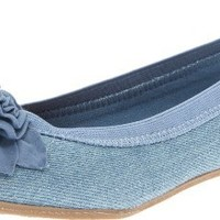 Kenneth Cole Reaction Soft Petal Ballet Flat (Little Kid/Big Kid),Denim,6 M US Big Kid