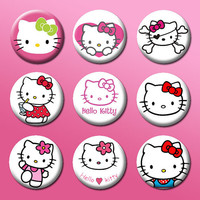 9 Hello Kitty Limited Edition Tribute Button Set by ArtworkByKevin