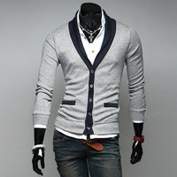 Mens Stylish Slim Cardigan Sweater