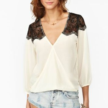 Twisted Lace Blouse