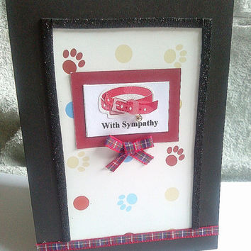 "Handmade Pet ""With Sympathy"" card"