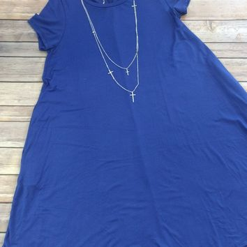 Midnight Cobalt Dress