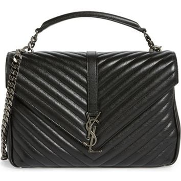 Saint Laurent Large College Leather Shoulder Bag | Nordstrom