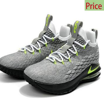Popular Nike LeBron 15 Low Air Max 95  Cool Grey Green sneaker