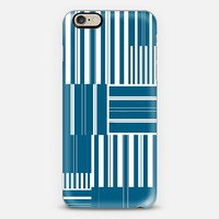 Egyptian blue and white stripes iPhone 6 case by Christy Leigh | Casetify