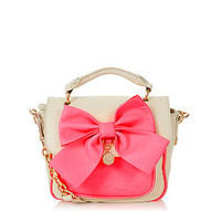 LYDC Nude and Pink Bow Satchel
