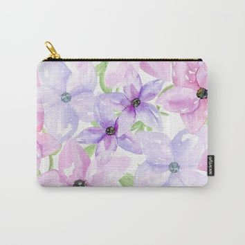 clematis vines Carry-All Pouch by Sylvia Cook Photography