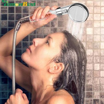 MDIGYN5 Universial 8cm Ionic Shower Head Filter Handheld Turbocharged Pressure Showerhead Water Saving with Energy Ball Filtration