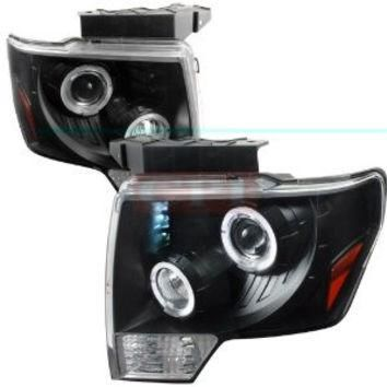 Ford F150 Dual Halo Led Projector Headlights Performance Conversion Kit-b