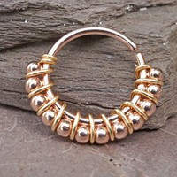 Bali Rose Gold Nose Hoop Nose Ring