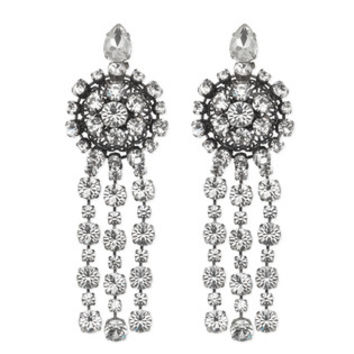Gucci Metal earrings with drop crystals