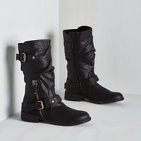Steampunk Stroll Through Charm City Boot in Black