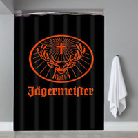 Top Jagermeister Liqueur Logo Beer Drinks Custom Shower Curtain Limited Edition