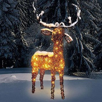 Rattan Reindeer - A reindeer from Santa?s sleigh! Made from weatherproof rattan. Can be decorated throughout the year. - Pro-Idee Concept Store - new ideas from around the world
