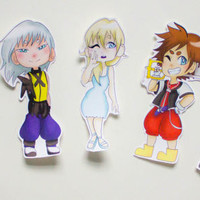 Kingdom Hearts Stickers  | NEW ART / UPDATED | Anime Sticker | Video Game Sticker | Party Favors | Cute Gifts | Cute Stickers | KeikiiArt