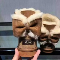 UGG Women male Fashion Wool Snow Boots Brown G-1