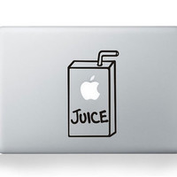 Juice Box --- Mac Decal Macbook Decals Macbook Stickers Vinyl decal for Apple Macbook Pro/Air iPad