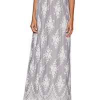 ERIN erin fetherston Women's Lavender Lace Maxi Skirt -
