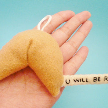 Fortune Cookie Ornament - You Will Be Rich