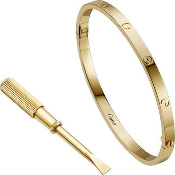 CARTIER 18k Yellow Gold LOVE BRACELET AUTHENTIC WITH NEW SCREW SIZE 19