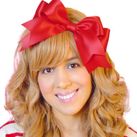 Huge Statement Hair Bow Clip in Red Snow White Costume Accessory