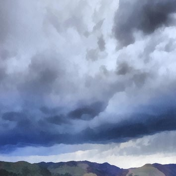 Storm Clouds Over The Rockies
