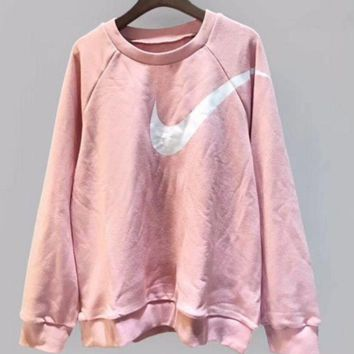 VXL8HQ Nike' Fashion long sleeve sweater thick Pink