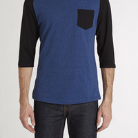 3/4 Color Block Baseball Tee