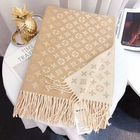 """Louis Vuitton"" LV Winter Fashion Couple Cashmere Cape Scarf Scarves Shawl Accessories"
