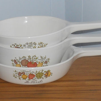 Vintage Corningware Spice of Life Set w/Lids by houseofheirlooms