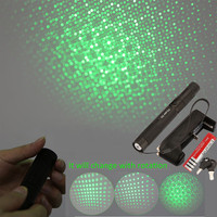 Green Laser Portable 303 10000mw Laser Pointer Pen Powerful light burning laser Adjustable Focus 4000MAH 18650 Battery + charger