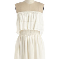 ModCloth Boho Mid-length Strapless All Eyelets On You Top