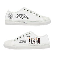 American Horror Story Coven Women Canvas Shoes - Sizes: US 5 6 7 8 9 - EUR 36 37 38 39 40