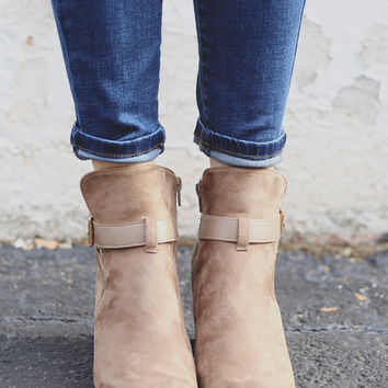 Love Letters Booties - Taupe