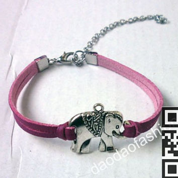 Supernatural bracelet, cool, smart elephant bracelets, leather bracelets, fashion bracelets personalized friendship gift
