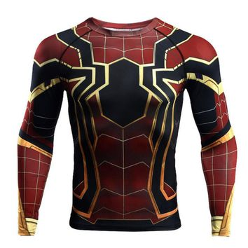 Avengers Short Sleeve Superhero print O-neck comic Marvel shirts