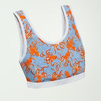 Essentials Soft Bra - Octopus Print